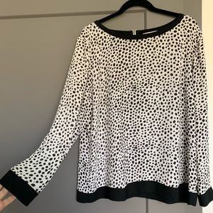 Cheetah print long sleeve blouse